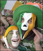 Irish fans in the crowds at Phoenix Park