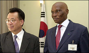 President Wade meets the South Korea foreign minister Han Seung-Soo