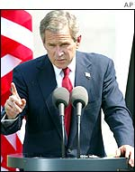 President George W Bush in Berlin in May