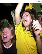 Brazil fans go mad at result