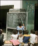 Street school in Senegal