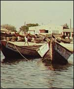 Fishing boats in Senegal