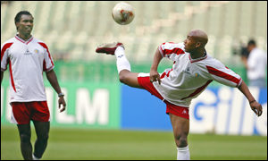 El Hadji Diouf in training