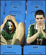Ireland fans after the match against Spain