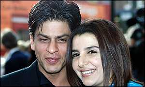 Indian film star Shah Rukh Khan and the show's choreographer Farah Khan