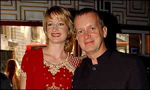 Comedian Frank Skinner and girlfriend