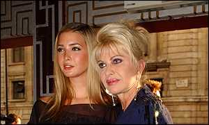 American socialite Ivana Trump and daughter