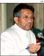 The President of Pakistan, General Pervez Musharraf
