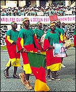 Cameroonian celebrations at the start of the project