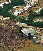 Glastonbury main stage, 1994
