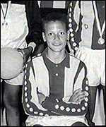 The young Rio Ferdinand