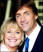 Judy Finnegan (left) with Richard Madeley