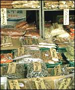 Dried fish in Japanese market