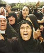 Iraqi women protest against UN sanctions