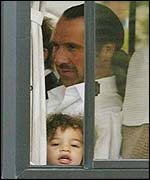 David Seaman pictured leaving the team hotel with his daughter Georgina