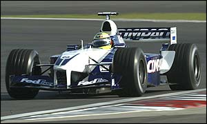 Williams' Ralf Schumacher on a hot lap