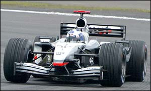 Scot David Coulthard battles hard at the Nurburgring