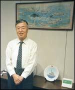 Dr Seiji Ohsumi in his office in Tokyo