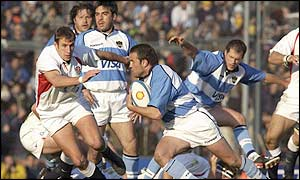 Diego Albanese on the charge