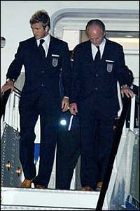 Captain David Beckham and coach Sven-Goran Eriksson