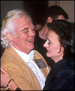 Tony Booth dances with Cherie Blair