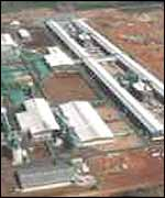 Aerial view of the Mozal plant
