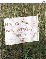 Sign on farm