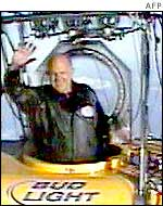 Steve Fossett in his balloon