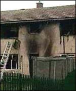 Fire engulfed the house in the Gurnos Estate