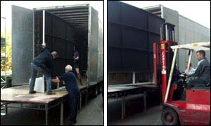 Unloading the new set