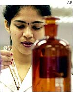 Indian scientist in laboratory