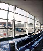 Luton airport departure lounge, Luton Airport