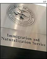 Office sign of the US Immigration and Naturalization Service