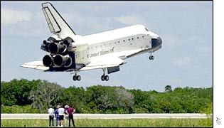 The Atlantis space shuttle