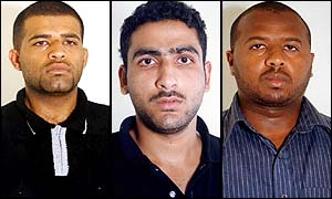 The three Saudi suspects: Abdullah Mesfer Ali al-Ghamdi, Zouhair Hilal and Hilal El-Assiri