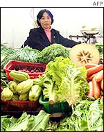 Vegetable seller in China