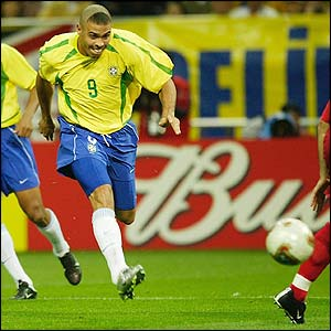 Ronaldo scores the only goal in Brazil's 1-0 win against Turkey and takes them to the final