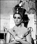 Dame Elizabeth Taylor in her starring role as Cleopatra, Queen of Egypt