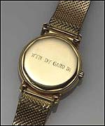 The gold watch given to Welsh actor Richard Burton as a love token by Elizabeth Taylor