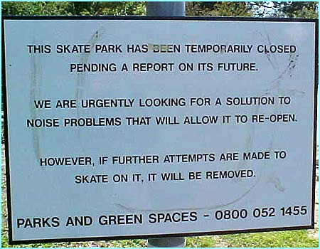 The council are adamant that the park shouldn't be used.