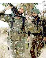 Indian soldiers near Jammu