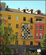 Repainted building