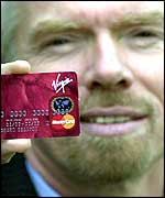 Richard Branson with credit card
