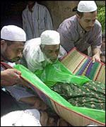 Muslims funeral for victim of earlier clash