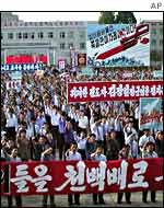 Demonstration in North Korea