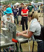 Glastonbury washing facilities
