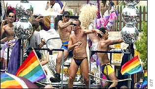 Tel Aviv gay pride march