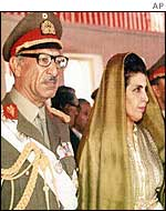 Afghan King Mohammed Zahir Shah and Queen Homaira in a file photo