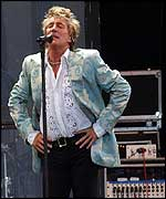 Rod Stewart at Hyde Park's Picnic in The Park concert