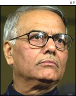 Former Finance Minister, now Foreign Minister Yashwant Sinha